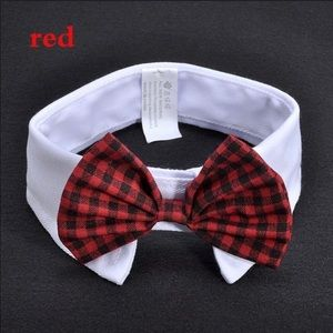 Red * Small dog/cat Bow Tie Collar for your pet